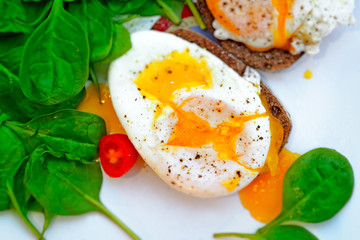 Delicious eggs Benedict