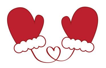 Santa Christmas Mittens