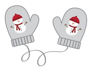 Snowman Christmas Mittens