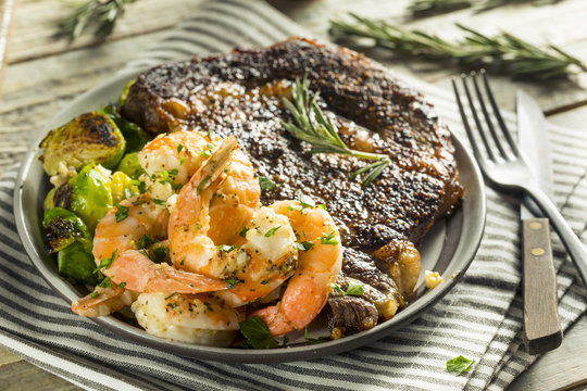 Gourmet Homemade Steak and Shrimp