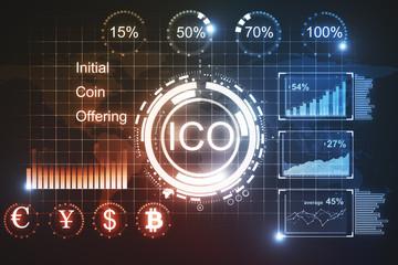 Glowing ICO backdrop