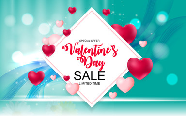 Valentines Day Sale, Discount Card.
