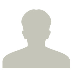 Profile anonymous face icon. Gray silhouette person. Male default avatar. Photo placeholder. Isolated on white background.