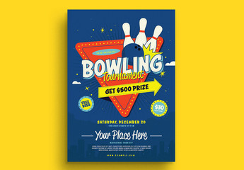 Bowling Night Tournament Flyer