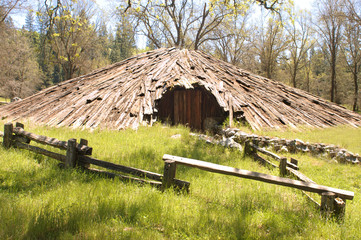 Native American - Miwok indian sweat house or meeting room