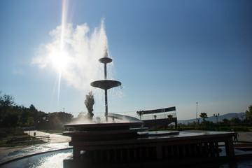 The geyser with hot water in Spa Resort of Sapareva Banya, Bulgaria