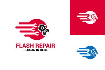Flash Repair Logo Template Design