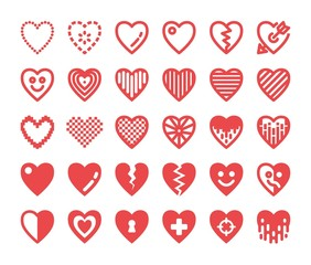 red heart icon,vector illustration