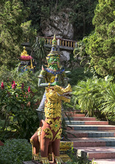 Statues at a forest temple Chiang Dao Thailand