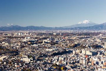 横浜市街地高所からの風景