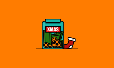 Money in Jar Christmas Funds Tips