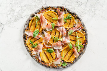 pizza with persimmon