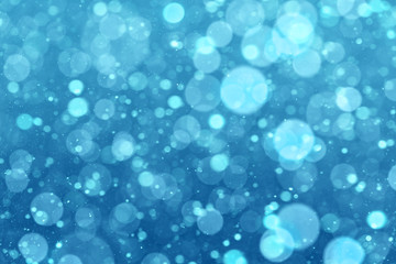 Abstract winter blue background
