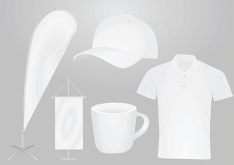 Promotional items set. vector illustration