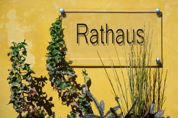 Fototapete - Schild 233 - Rathaus