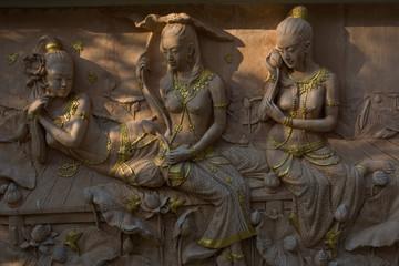 Statue beautiful princess of Asia Thailand