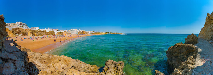 Portugal, Albufeira,  portuguese beach with cliffs PRAIA DO TÚNEL (PENECO)