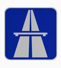 Deutsches Verkehrszeichen: Beginn Autobahn.