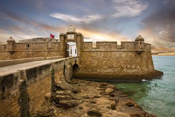 Poster Vestingwerk Kadiz, San Sebastian fortress, Spain