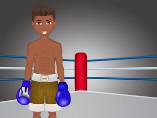 illustration of boxeur