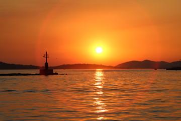 Sunset on the Adriatic Sea (Croatia)