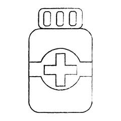 medical bottle medicine pharmacy symbol vector illustration