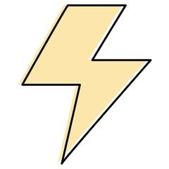 electric ray symbol icon vector illustration design