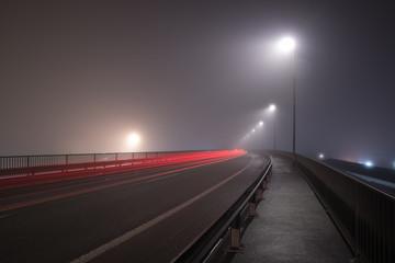 Road Traffic Lights at Night Fotomurales