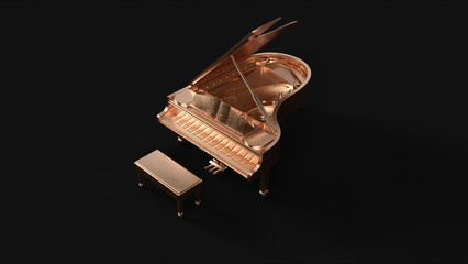 Brass Grand Piano