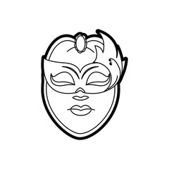 Isolated mask design