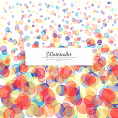 Vector background. Watercolor transparent blots. Hand drawing.