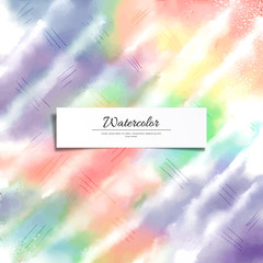 Abstract vector watercolor diagonal background. Hand drawing with colored spots and blotches.