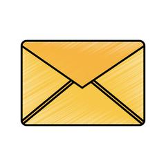 email envelope message internet symbol vector illustration drawing image