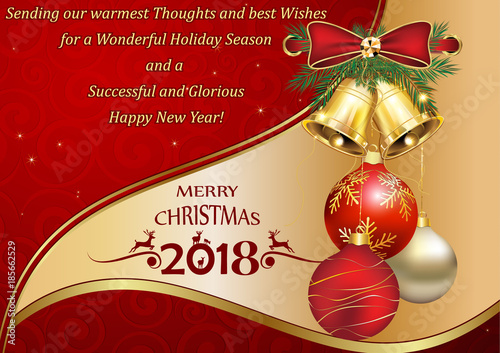 quot happy new year 2018 thank you greeting card with a special message designed for the winter