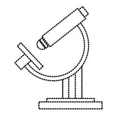 Microscope science tool icon vector illustration graphic design