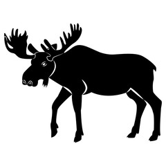 Vector image of elk silhouette