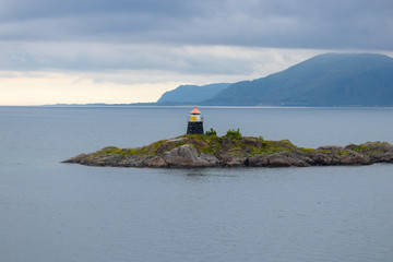 Small lighthouse in Northern Norway.