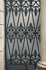 Geometric iron fence in Milano