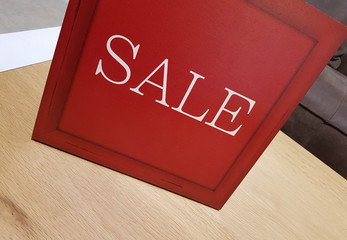Big Red Sale Sign - Conceptual image for shopping ,sales and seasons concept