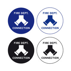 Fire brigade department company bridge connection sign set