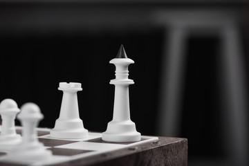 Closeup of chess king