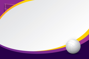 Volleyball design background. Vector illustration