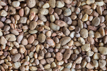 dry round reeble stones background