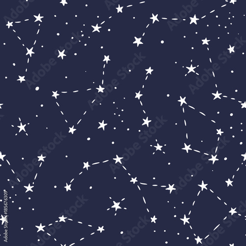 Blue And White Stars In Space