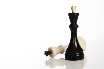 Chess pieces close-up