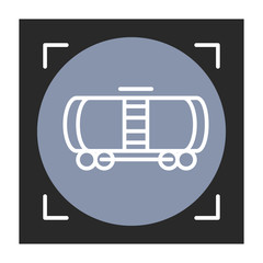 Wagon linear vector icon. Trendy line illustration railway carriage for website of transport company and delivery services.