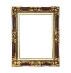 antique black frame isolated on white background