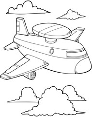 Papiers peints Cartoon draw Jet Aircraft Vector Illustration Art