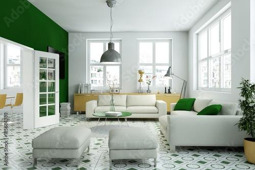 Wohnzimmer gelb grün\