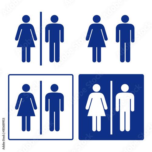 toilet wc bathroom restroom men women sign set stock image and